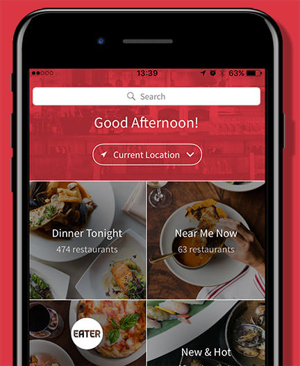 Opentable mobile site