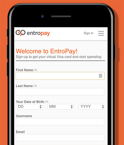 Entropay App Screen